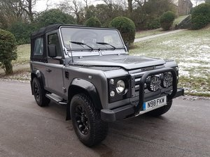 1996 LAND ROVER LEFT HAND DRIVE DEFENDER 90 300 TDI SOFT TOP