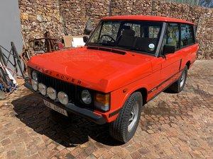 1981 Range Rover Two-Door V8 Manual RHD