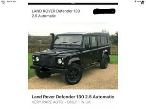 Land Rover Defender 130 FOLEY back automatic PX