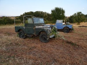 1950 LAND ROVER SERIES ONE TWO CARS IN STOCK FOR 12000 EURO For Sale