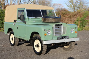 """Land Rover Series 3 88"""" 1974 Pastel Green Softop Refurbished For Sale"""