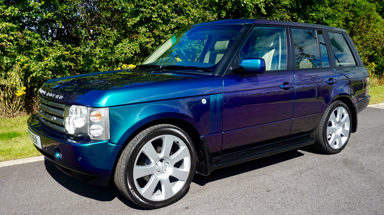 2003 Range Rover Autobiography Spectral Blue, Rear TVs For Sale (picture 1 of 6)