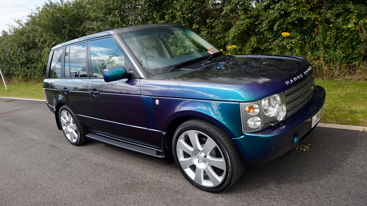 2003 Range Rover Autobiography Spectral Blue, Rear TVs For Sale (picture 3 of 6)