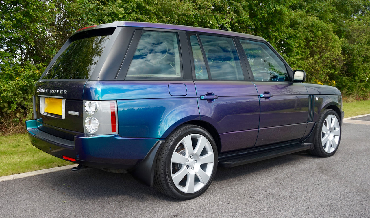 2003 Range Rover Autobiography Spectral Blue, Rear TVs For Sale (picture 4 of 6)