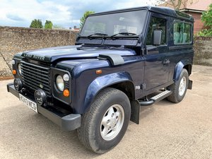 2000 Defender 90 TD5 County Station Wagon 6 seater in oxford blue SOLD
