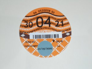 Road Tax Disc 2021. SOLD