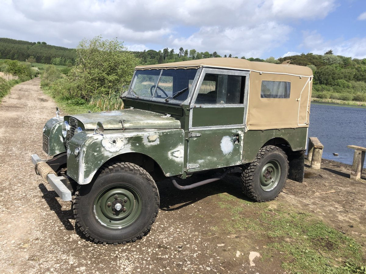 1955 Land Rover Series 1 soft top. Galvanised bulkhead. Original SOLD (picture 1 of 6)