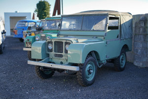 """1949 Land Rover Series 1 80"""" Lights Behind Grille Project JWR 918 For Sale"""