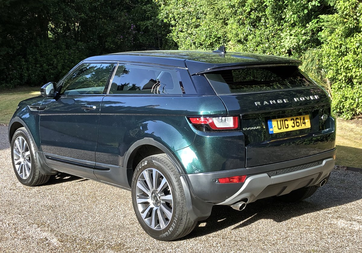 2016 RANGE ROVER EVOQUE TD4 SE COUPE AUTO 1 OWNER For Sale (picture 3 of 6)