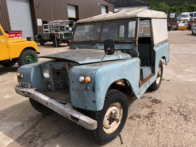 1963 Land Rover series 2a hardtop Restoration project For Sale (picture 1 of 6)