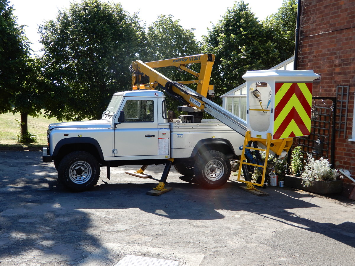 2005 Land Rover Defender 110 Cherry Picker SOLD (picture 1 of 6)