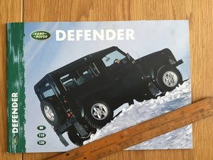1999 Land Rover Defender brochure For Sale