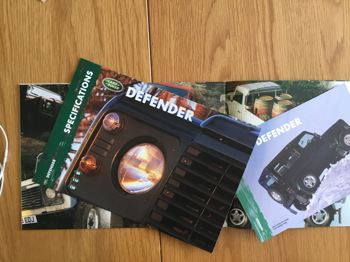 1999 Land Rover Defender brochure For Sale (picture 2 of 2)
