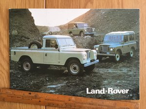 1988 Land Rover brochure For Sale