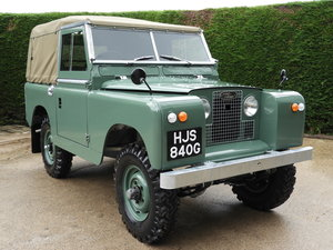 "1968 LAND ROVER SERIES 2A 88"" SOFT TOP P/UP FULLY RESTORED"