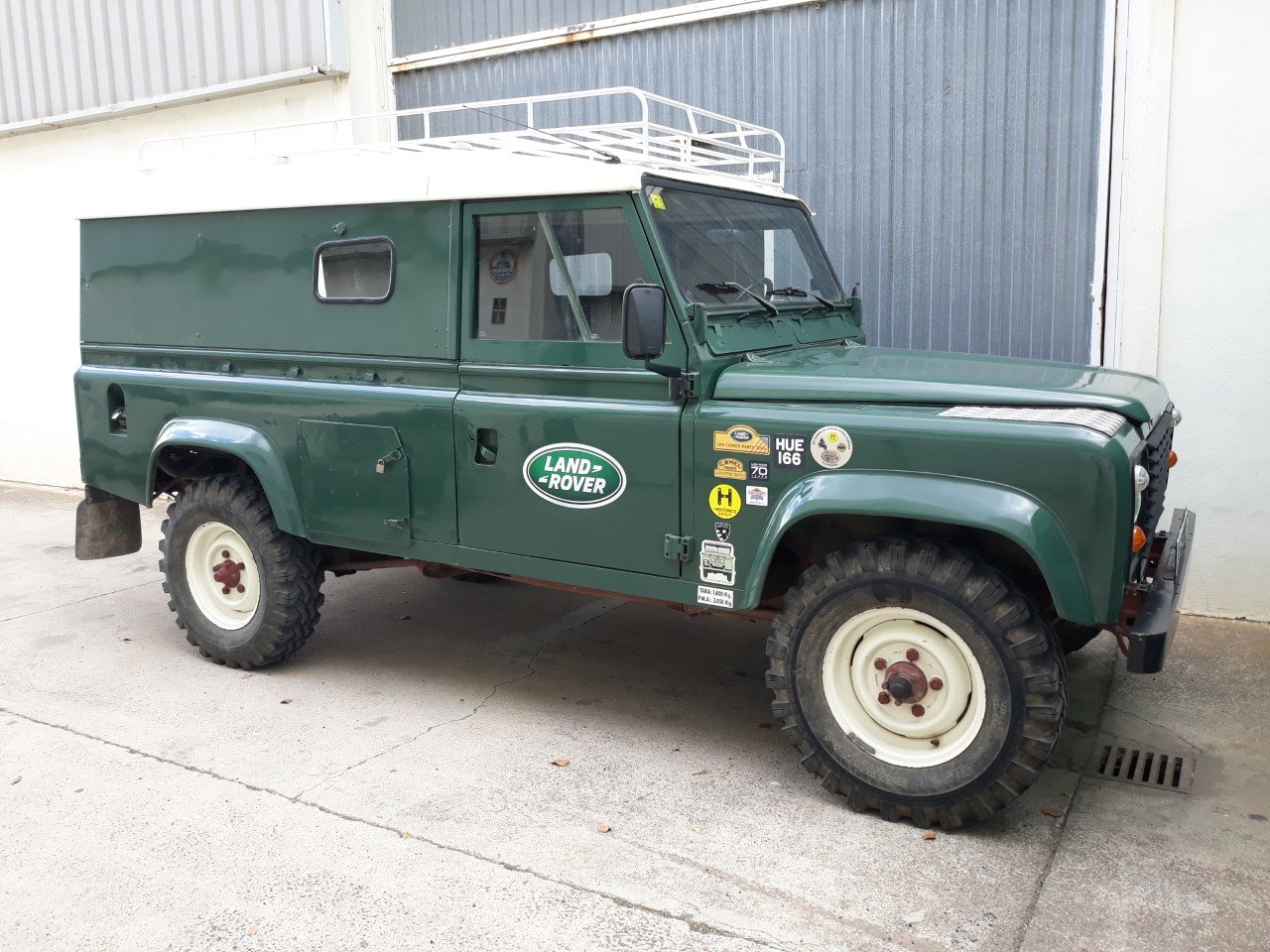 1983 LHD Land Rover Defender 110 Military, super-diesel For Sale (picture 1 of 6)