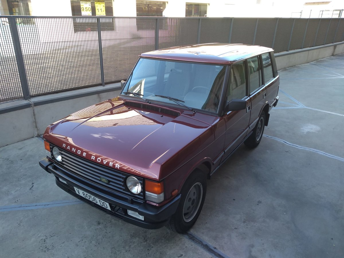 1989 Range rover 3.5 v8 vogue  color : trocadero red For Sale (picture 1 of 6)