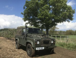 Ex-Military Land Rover Wolf Defender 90 300 tdi