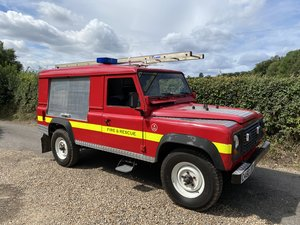 1985 Landrover defender 110 fire engine rescue vehicle