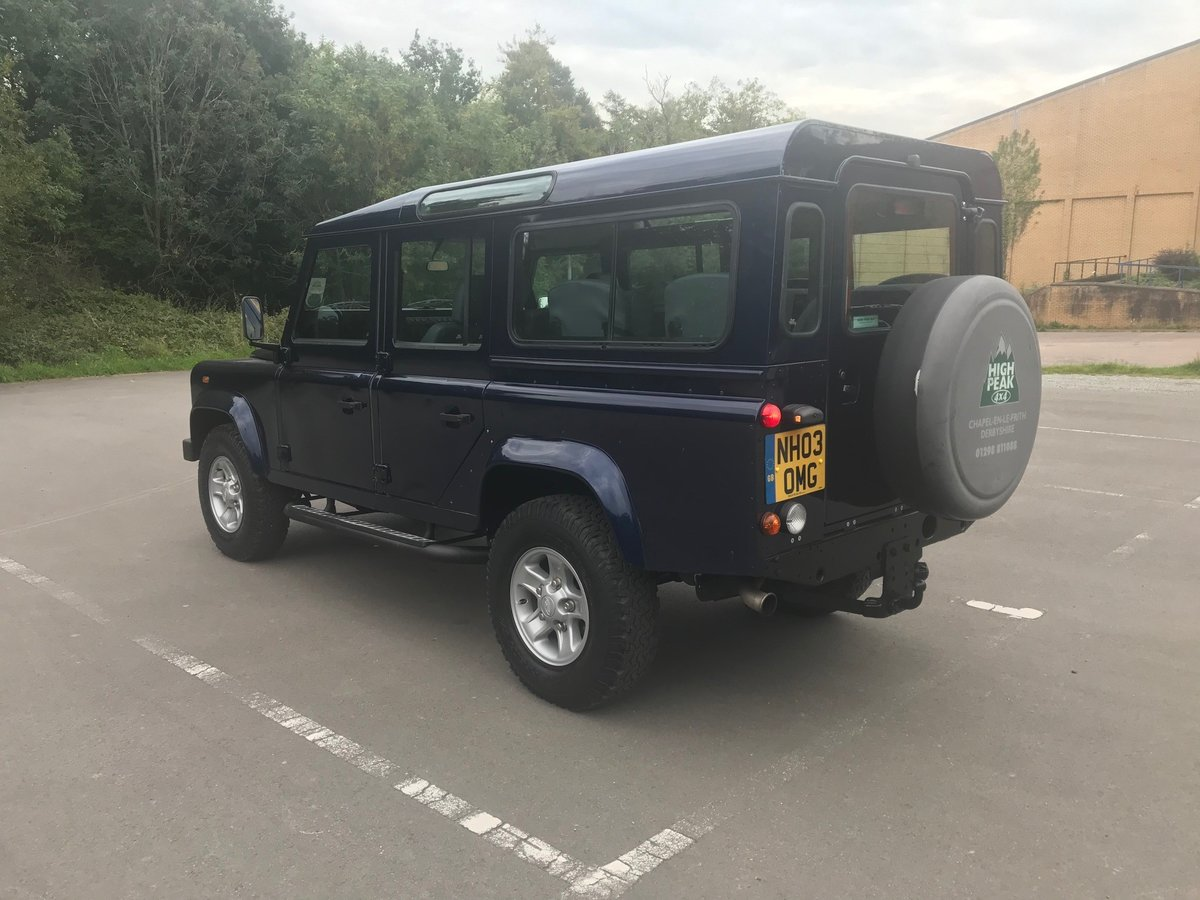 2003 Land Rover Defender 110 TD5 County 9 Seats For Sale (picture 4 of 6)