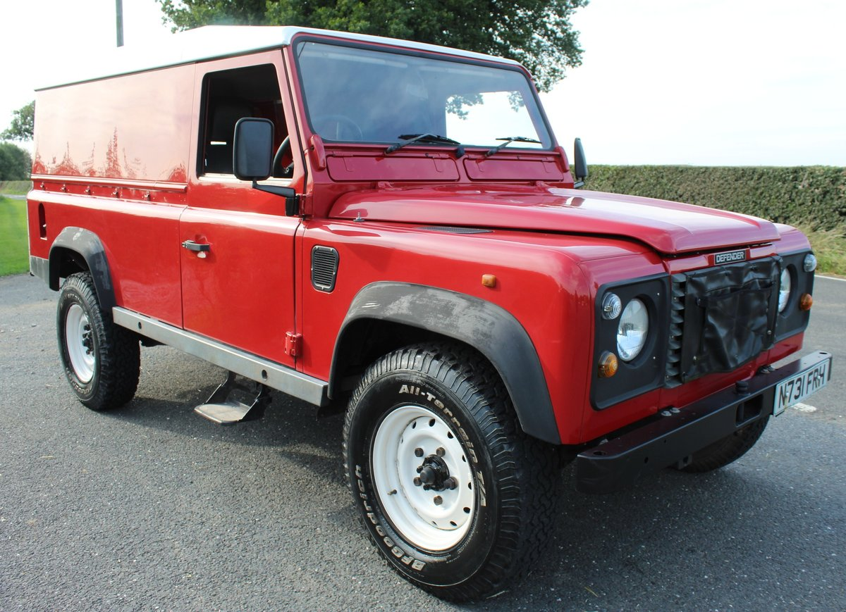 1996 Land Rover 110 Defender TDi  4 former keepers For Sale (picture 1 of 6)