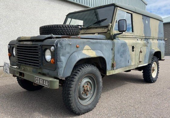 1995 Ex Military LAND ROVER Defender 110 For Sale (picture 1 of 6)