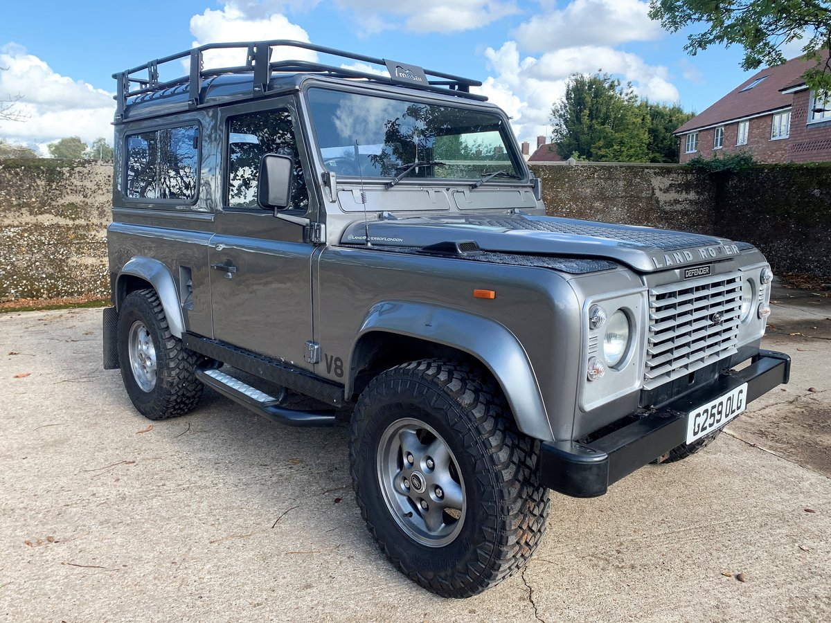 1989 LAND ROVER 90 WITH TUNED ROVER V8 CONVERSION SOLD (picture 1 of 6)