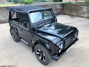 exceptional 2009 Defender 90 SVX soft top fast road stage 2