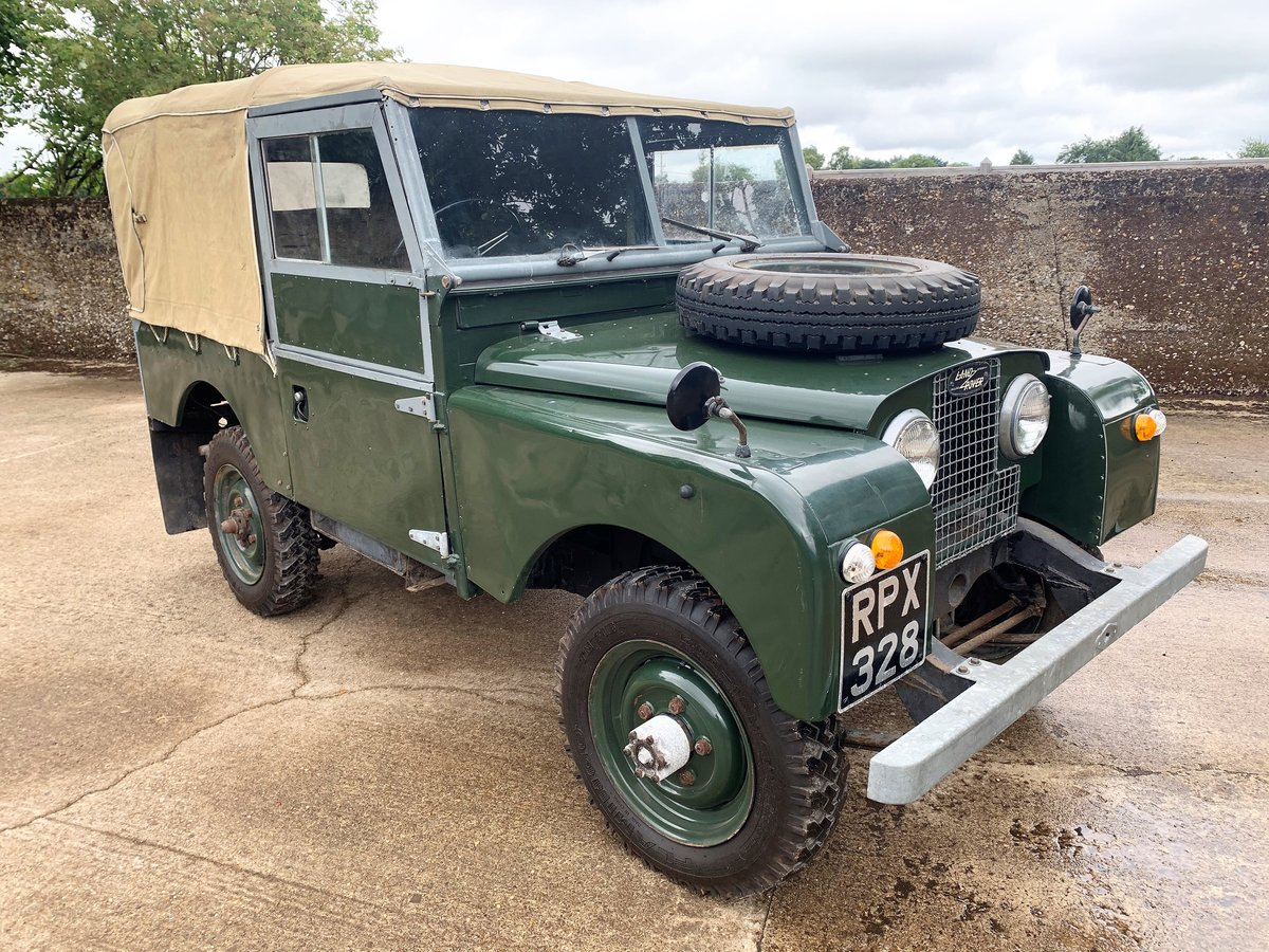 nicely patinated 1954 Series One 86in soft top-older resto SOLD (picture 1 of 6)