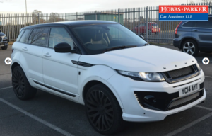Land Rover Range Rover Evoque 45,095 miles for auction 25th