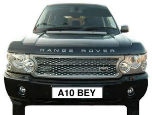 Number Plate: A10 BEY (Car Not Included)