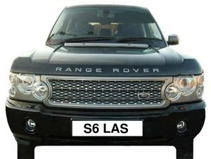 Number Plate S6 LAS (Car Not Included)