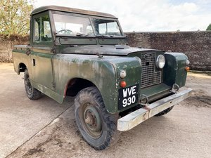 Picture of heavily patinated 1960 Series II 88in petrol truck cab SOLD