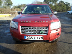 Picture of 2007 AUTO DIESEL 4X4 FREELANDER IN RED HALF LEATHER TRIM MOT AUG For Sale