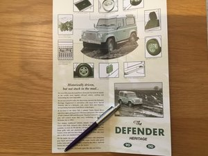 Picture of 1999 Land Rover Defender heritage brochure For Sale