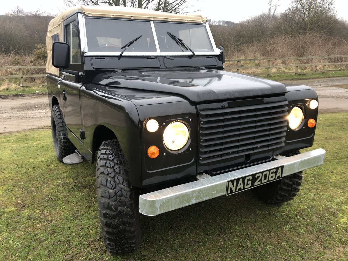 1962 Land Rover Series 2a-V8-5 speed-soft top-Galvanised chassis For Sale (picture 2 of 10)