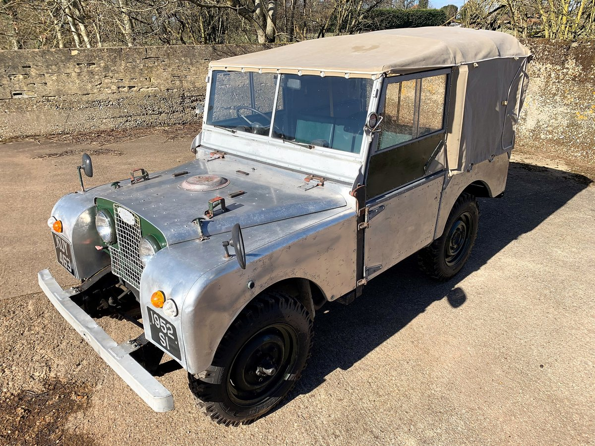1952 Series One 80in soft top +alloy bulkhead For Sale (picture 1 of 20)