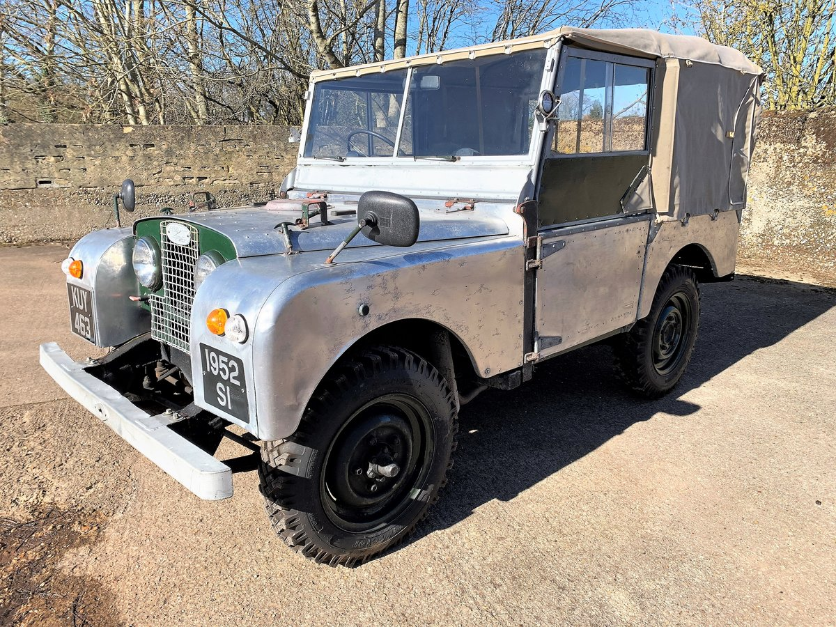 1952 Series One 80in soft top +alloy bulkhead For Sale (picture 3 of 20)