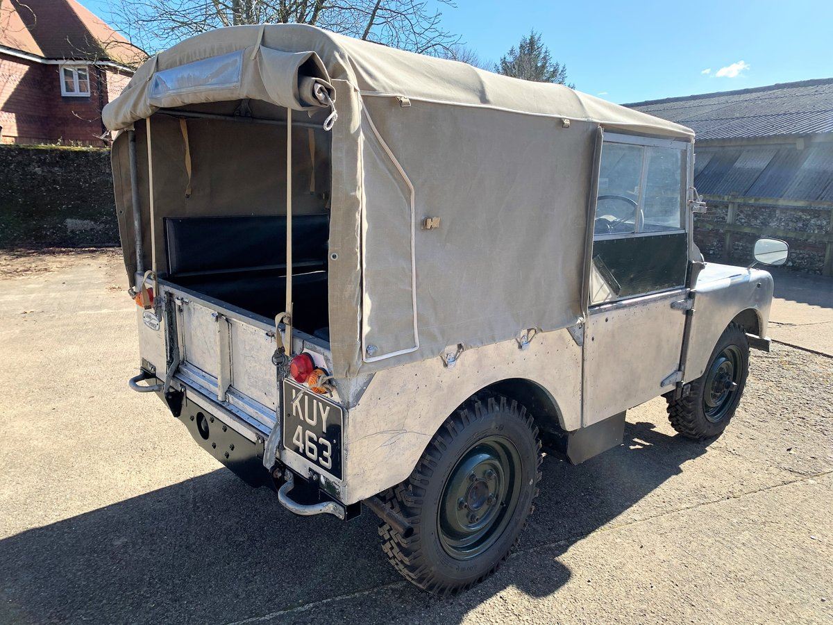1952 Series One 80in soft top +alloy bulkhead For Sale (picture 6 of 20)