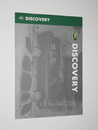 1998 Landrover Discovery Brochure For Sale (picture 1 of 4)