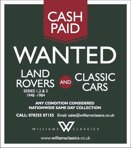 1948 Looking For All Land Rover Series 1, 2 and 3 CASH PAID  For Sale (picture 1 of 5)