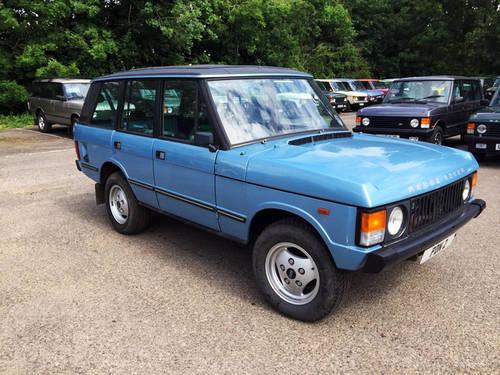 1983 RHD Range Rover 3.5 Long Shift 4 Door Full Webasto Roof For Sale (picture 1 of 4)