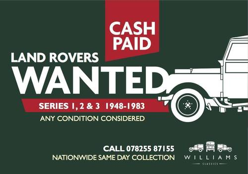 1948 Looking For All Land Rover Series 1, 2 and 3 CASH PAID! Wanted (picture 6 of 6)
