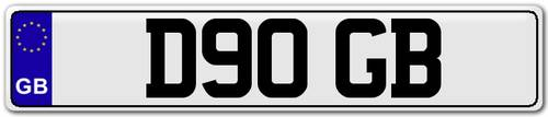1986 D90 GB - Registration Plate for Defender 90. For Sale (picture 3 of 4)