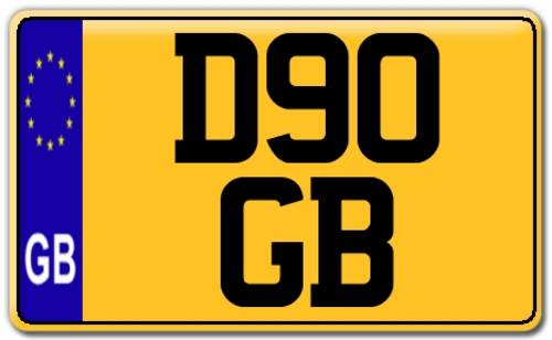 1986 D90 GB - Registration Plate for Defender 90. For Sale (picture 4 of 4)