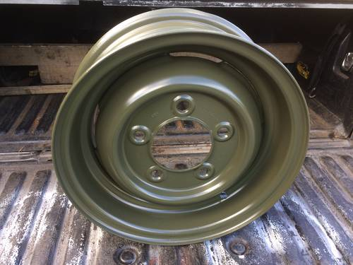 1990 Classic Land Rover Wheel Restoration - Tudor Wheels Ltd For Sale (picture 2 of 2)