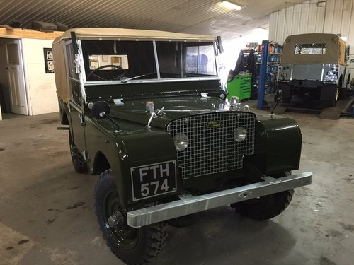 "1950 Land Rover® Series 1 80"" *Lights Behind The Grill* (FTH) For Sale (picture 1 of 6)"