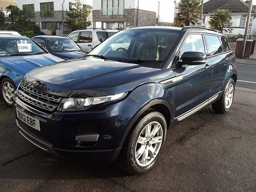 2012 RANGE ROVER EVOQUE PURE.T.SD4 2.2.AUTO DIESEL 5 DR SOLD (picture 1 of 6)