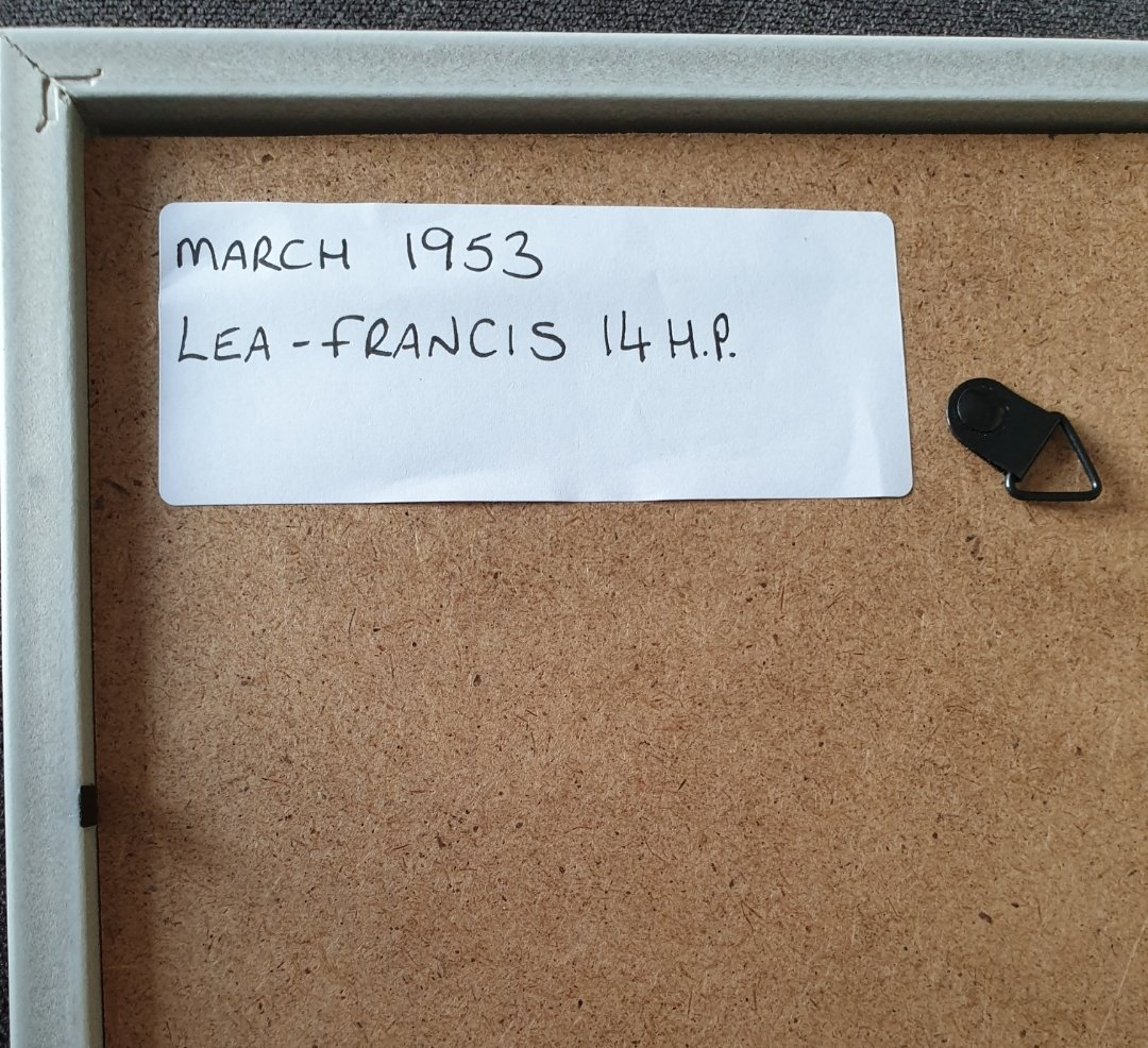 Original 1953 Lea-Francis Framed advert For Sale (picture 2 of 2)
