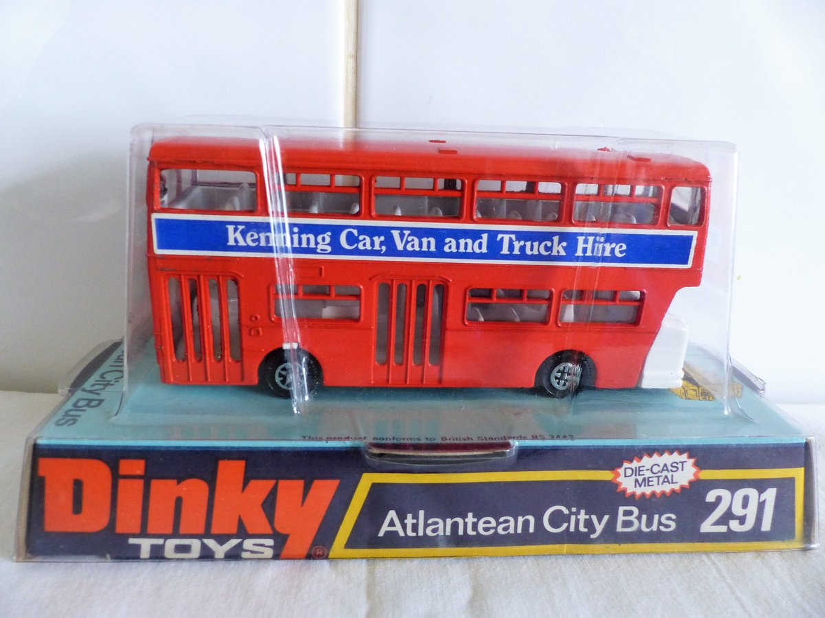 DINKY # 291 LEYLAND ATLANTEAN-KENNING CAR VAN HIRE For Sale (picture 3 of 6)